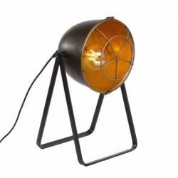 Lampe Studio Luminaire Design Orientable de Bureau de Salon Patiné Gris-Noir 24x28x42cm