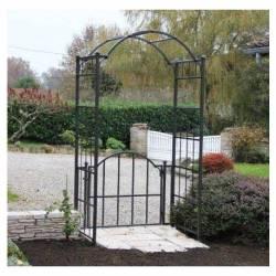 Arche Portillon Classic Garden Portail Arche à Rosiers de Jardin en Fer Forgé 71x121x232cm