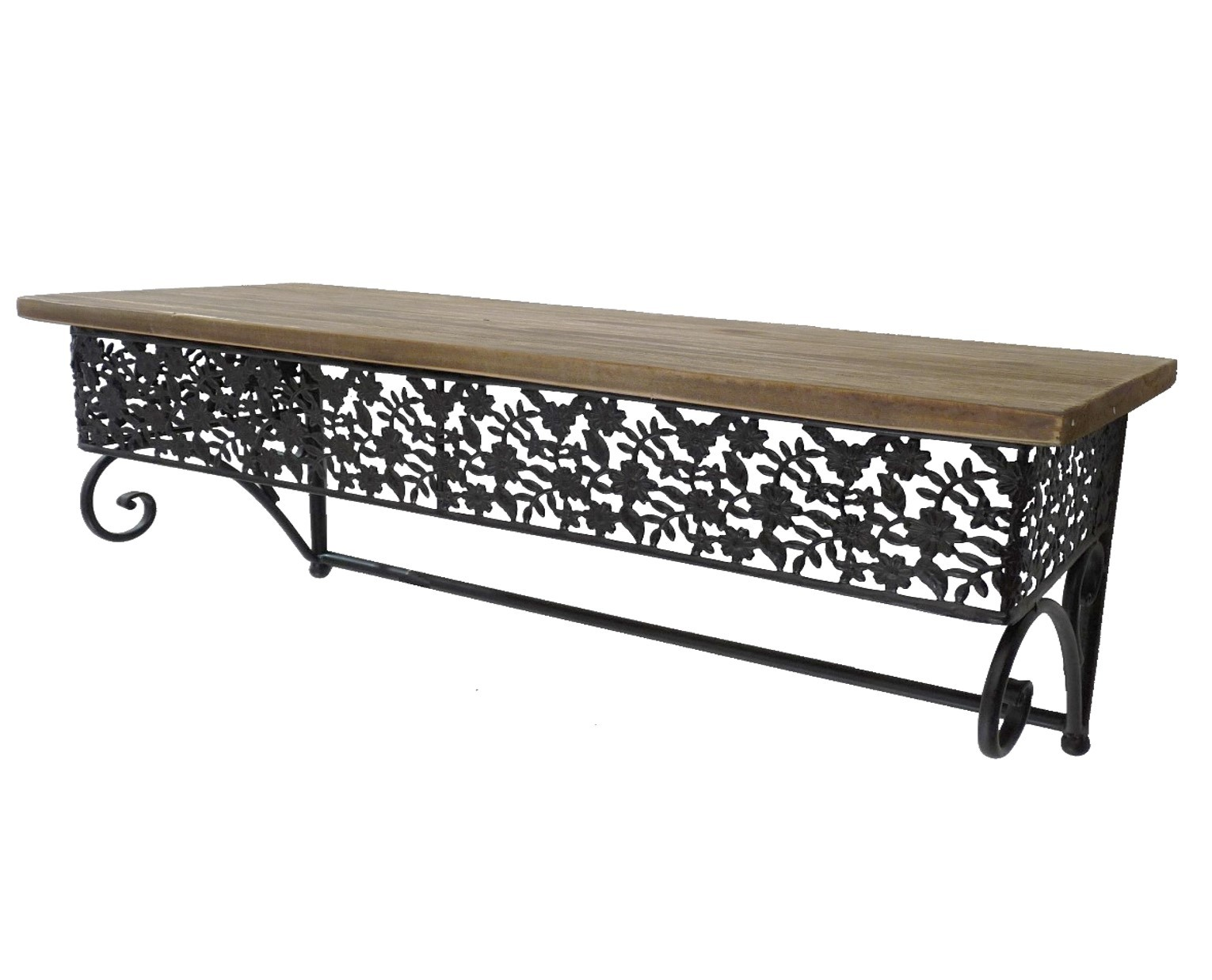 Support etagere fer forge fashion designs - Console murale fer forge ...