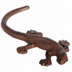 Statuette Salamandre ou Animal Décoratif à Poser en Fonte Patinée Marron 2,7x24x11cm