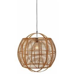 Suspension Kesia Naturel Athezza Luminaire Plafonnier en Bambou Couleur Naturelle 49x49x49cm