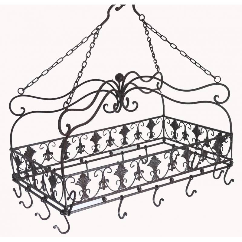 Porte ustensiles de cuisine 14 crochets rectangulaire ou ratelier porte jambo - Porte ustensile de cuisine ...
