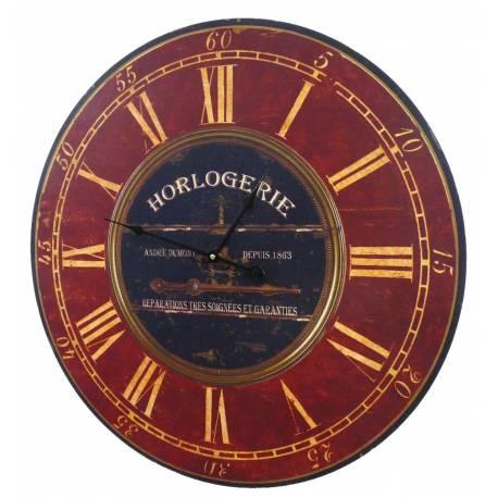 Horloge Murale de Salon en Bois Pendule de Cuisine Horlogerie 4x58x58cm