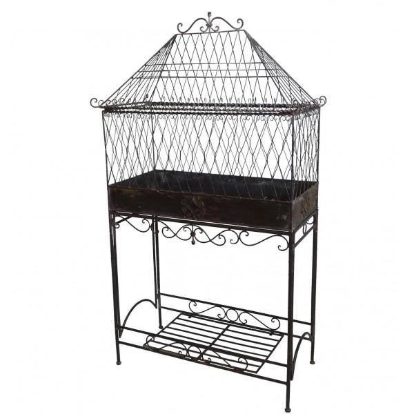 Serre de Jardin sur Pied d'Intérieur ou Extérieur Cage à Plante en Fer 24x60x113cm