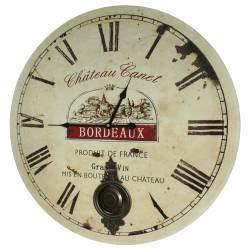 Horloge Murale de Salon en Bois Pendule à Balancier de Cuisine Chateau Canet Bordeaux 4x58x58cm