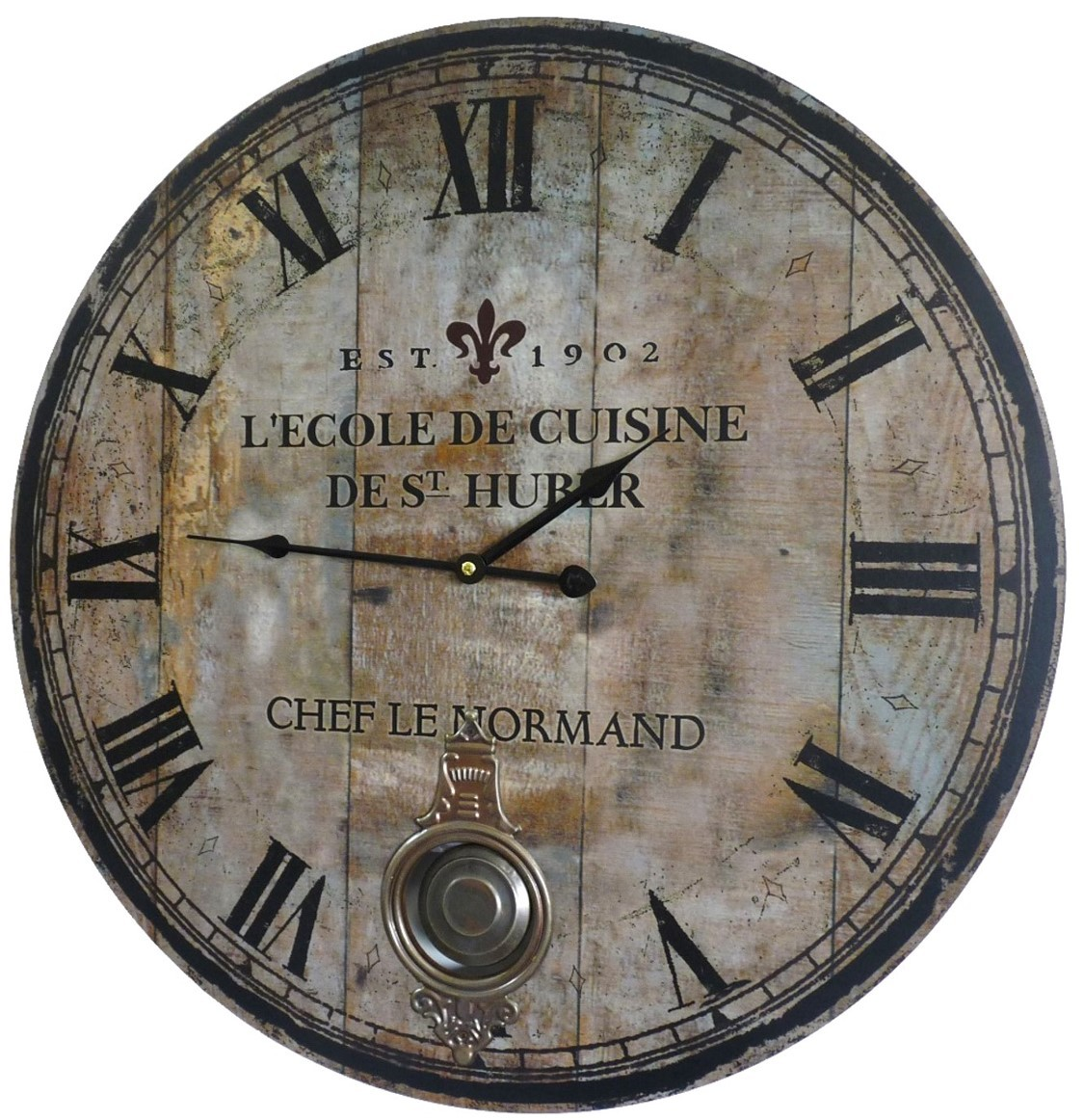 Horloge murale pour cuisine tfa 3d en mtal horloge for Horloge murale de cuisine