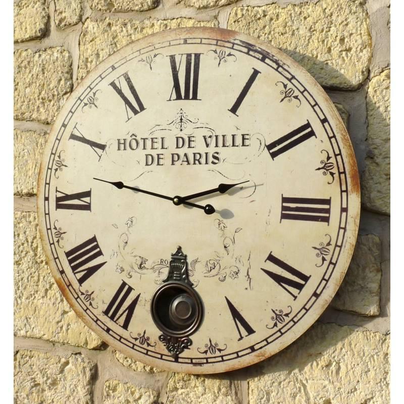 Horloge Murale De Salon En Bois Pendule Balancier De
