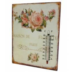 Thermomètre sur Plaque Déco