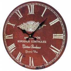 Horloge Murale en Bois Ø34cm