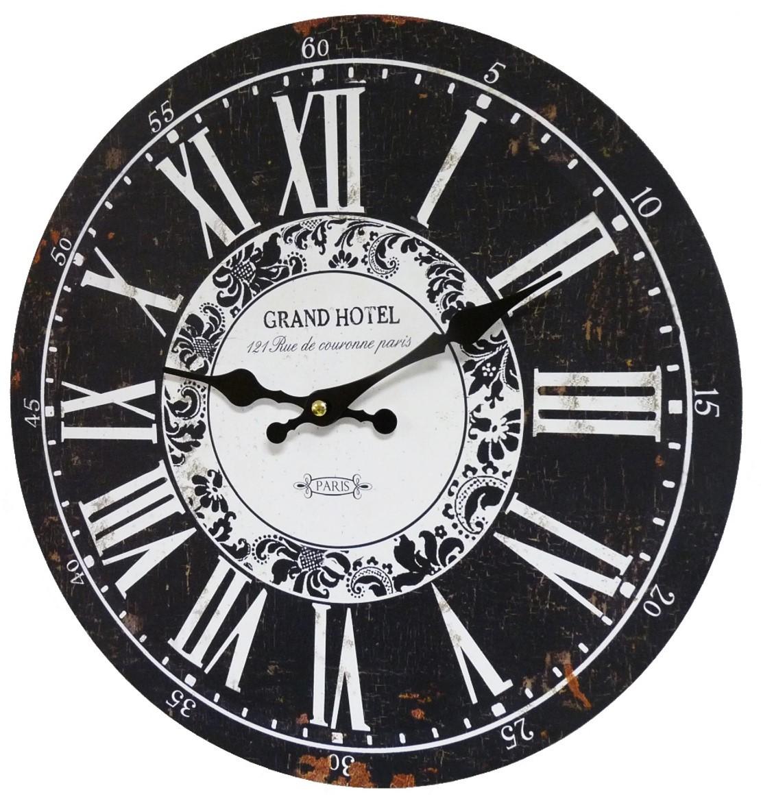 Horloge Murale Pendule Ronde De Cuisine Ou Salon En Bois Et Papier