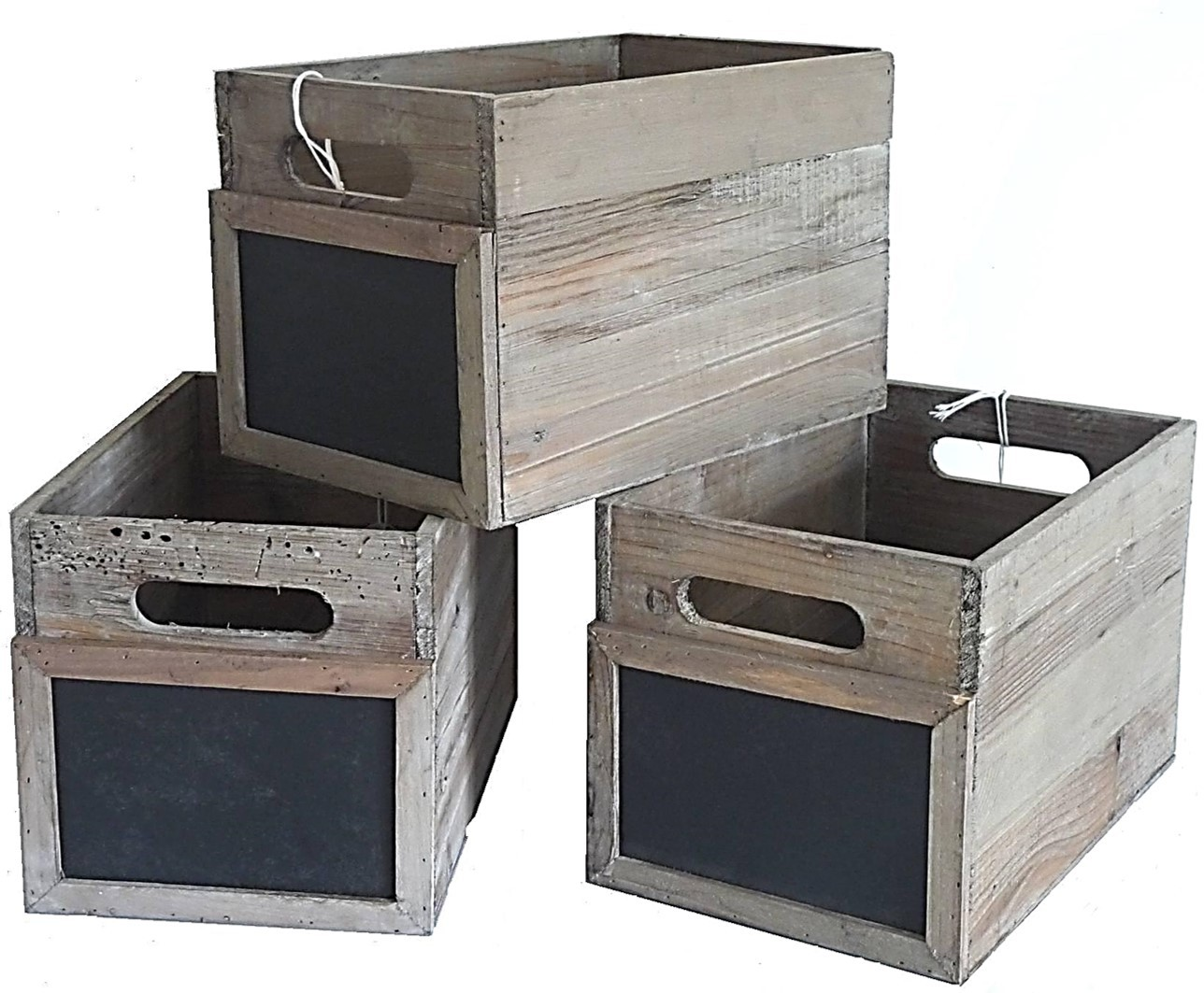 Lot De 3 Caisses Casiers Bouteilles Cagettes L Gumes Cageots  # Etagere Cagette Bois