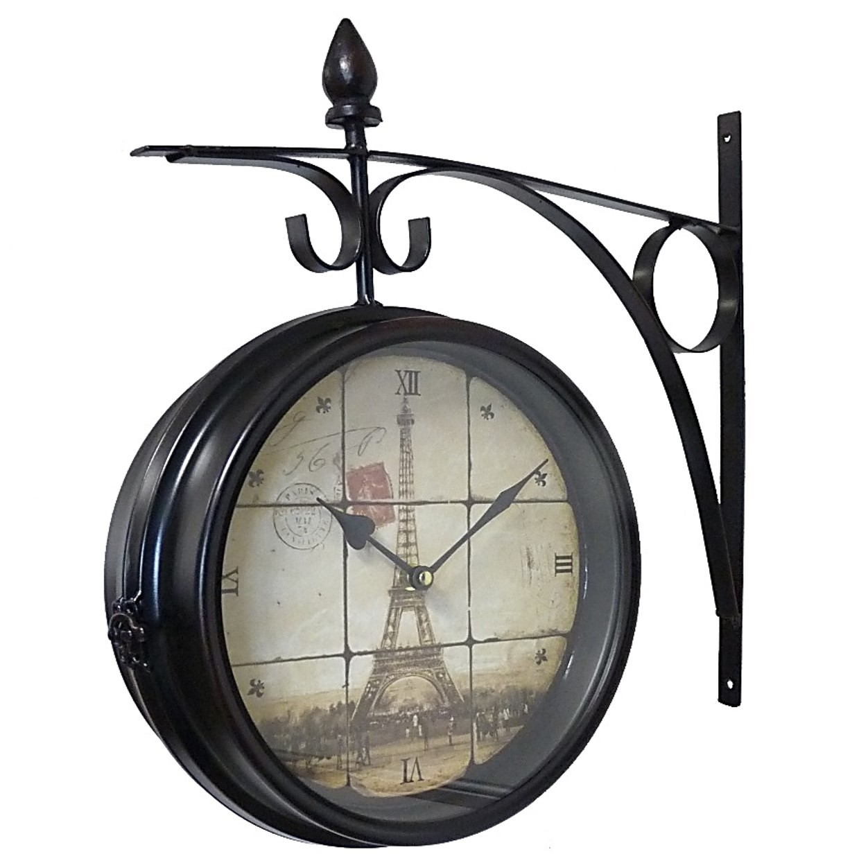 awesome grosse pendule murale concernant grande horloge gante ronde pendule vintage style. Black Bedroom Furniture Sets. Home Design Ideas