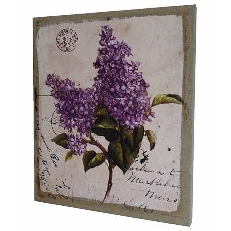 grand tableau cadre mural ou poser motif floral et carte postale ancienne imprim sur toile. Black Bedroom Furniture Sets. Home Design Ideas