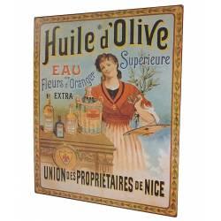 Plaque Décorative Murale à Poser Inspiration Affiches Publicitaires à l'Ancienne 0,1x25x33cm