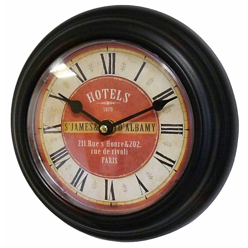 Horloge Murale en Fer Noir avec Vitre en Plexiglass Pendule de ...