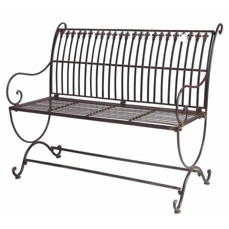 banc de jardin banquette en fer marron 2 places personnes fauteuil de jardin mobilier de qualit. Black Bedroom Furniture Sets. Home Design Ideas