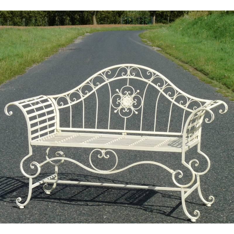 Banc style dagobert banquette fauteuil mobilier de jardin for Mobilier de jardin fer