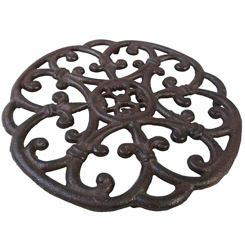 dessous de plat centre de table forme ronde en fonte. Black Bedroom Furniture Sets. Home Design Ideas