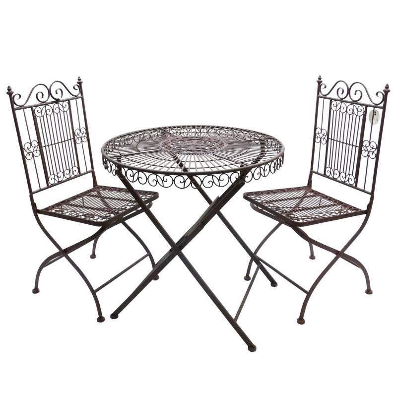 Salon de jardin 2 personnes salon de the bistrot 1 table 2 for Salon de jardin deux personnes