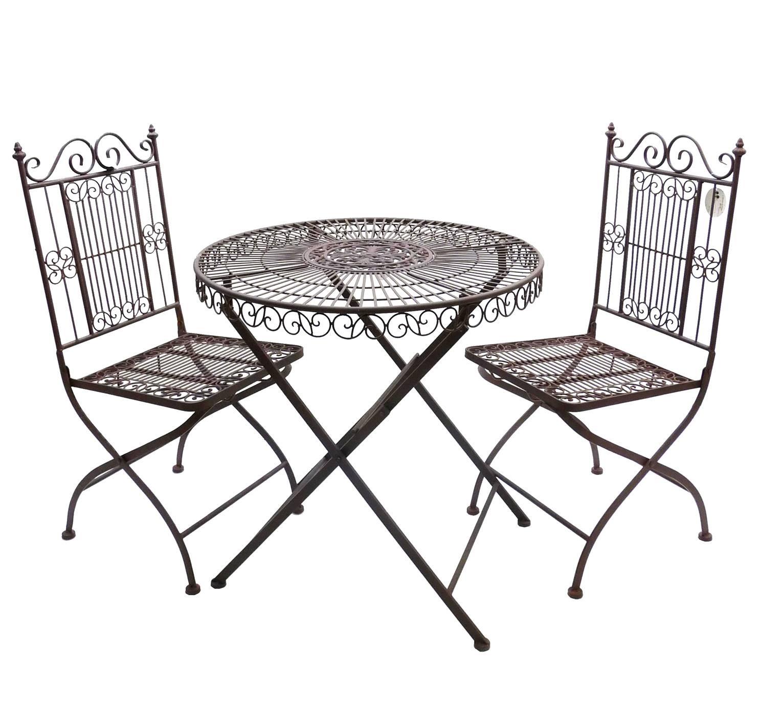 Salon de Jardin 2 Personnes Salon de The Bistrot 1 Table 2 Chaises ...