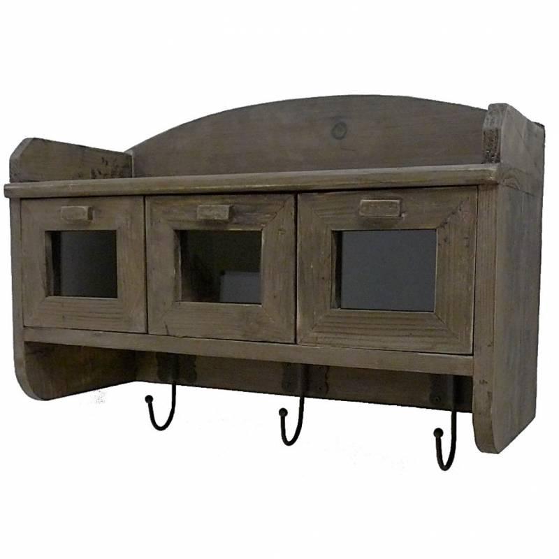 Etag re de rangement d 39 entr e ou de cuisine porte serviettes ou manteaux - Rangement manteau entree ...