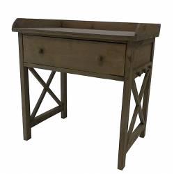 Meuble 1 Tiroir Table de Chevet de Nuit Console Basse Guéridon Bout de Canapé en Bois 40x60x63cm