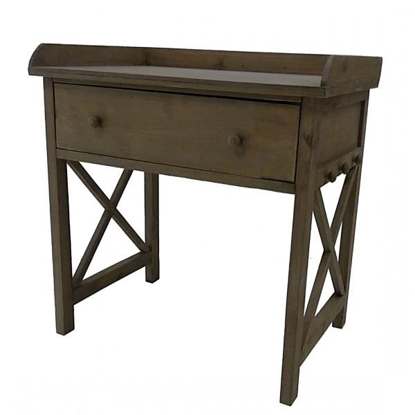 meuble 1 tiroir table de chevet de nuit console basse gu ridon bout de canap en bois 40x60x63cm. Black Bedroom Furniture Sets. Home Design Ideas
