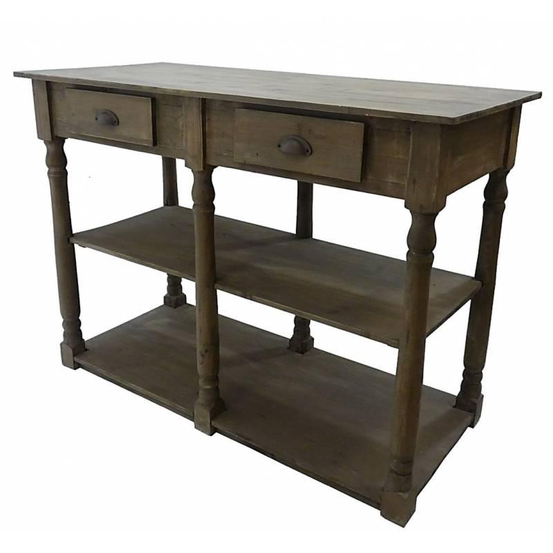 Table de drapier meuble de rangement console de salle de for Console de salle de bain