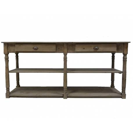Table de Drapier Meuble de Rangement Console de Salle de Bain Meuble Vasque en Bois 54x87x170cm