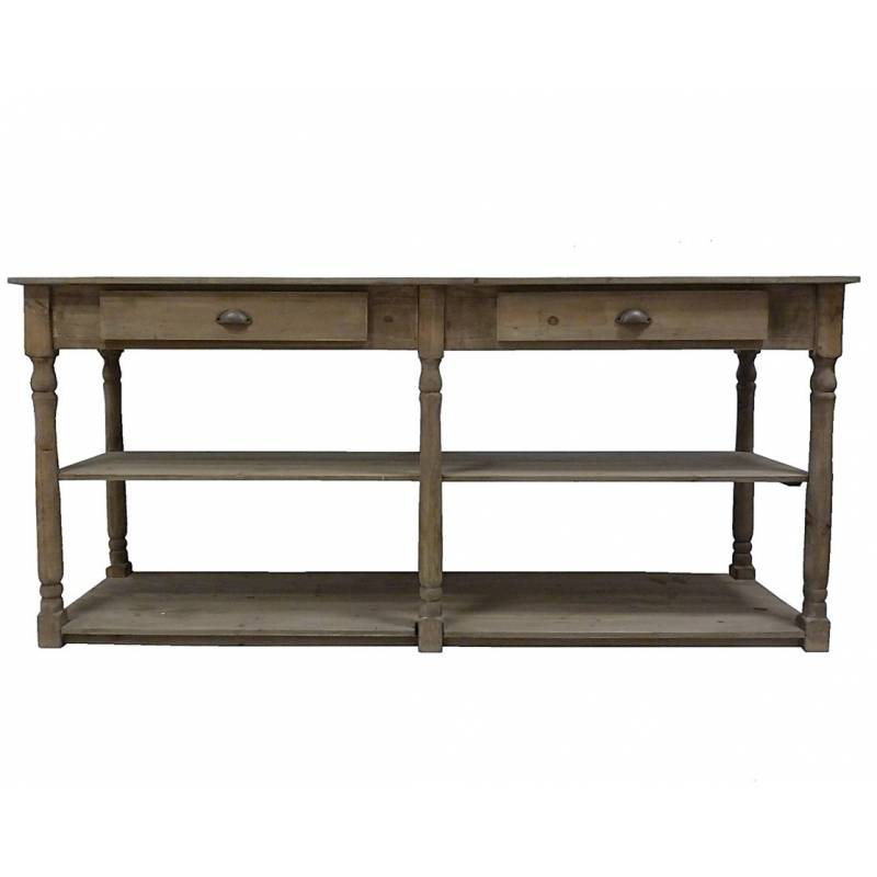Table de drapier meuble de rangement console de salle de for Meuble rangement salle de bain