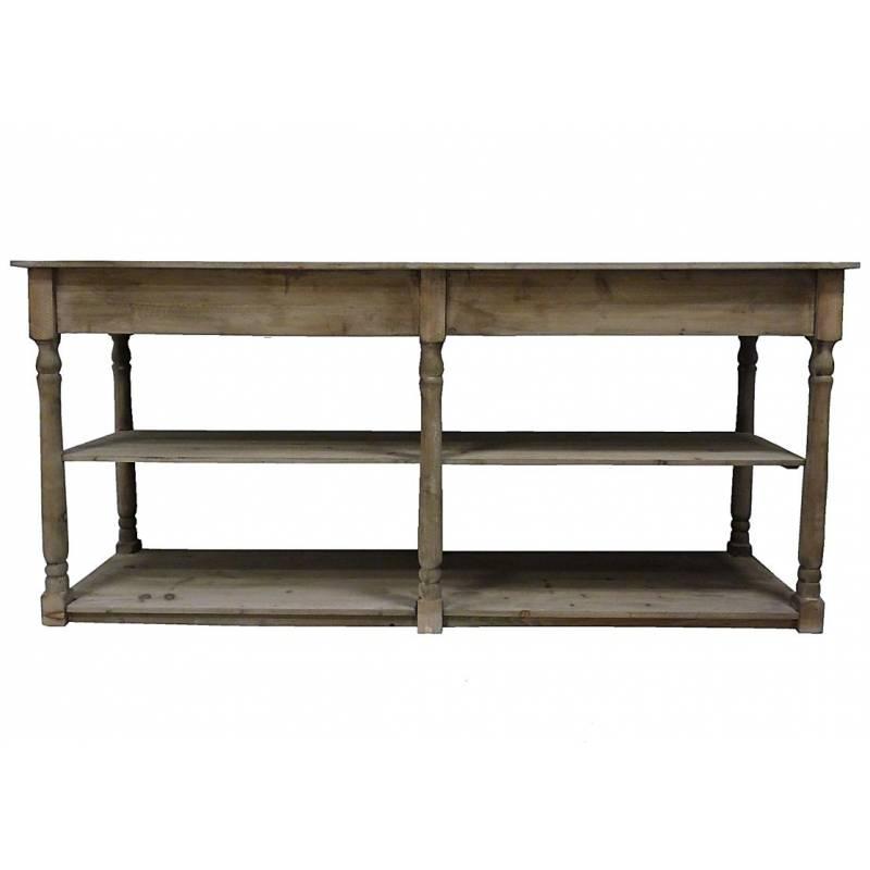 Table de drapier meuble de rangement console de salle de - Rangement salle de bain bois ...