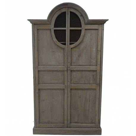 grande armoire 2 portes meuble de rangement biblioth que dressing etag re en bois 45x110x191cm. Black Bedroom Furniture Sets. Home Design Ideas