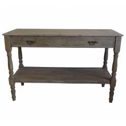Table de Drapier Console Meuble d'Appoint en Bois avec Grand Tiroir Bois 45x77x120cm