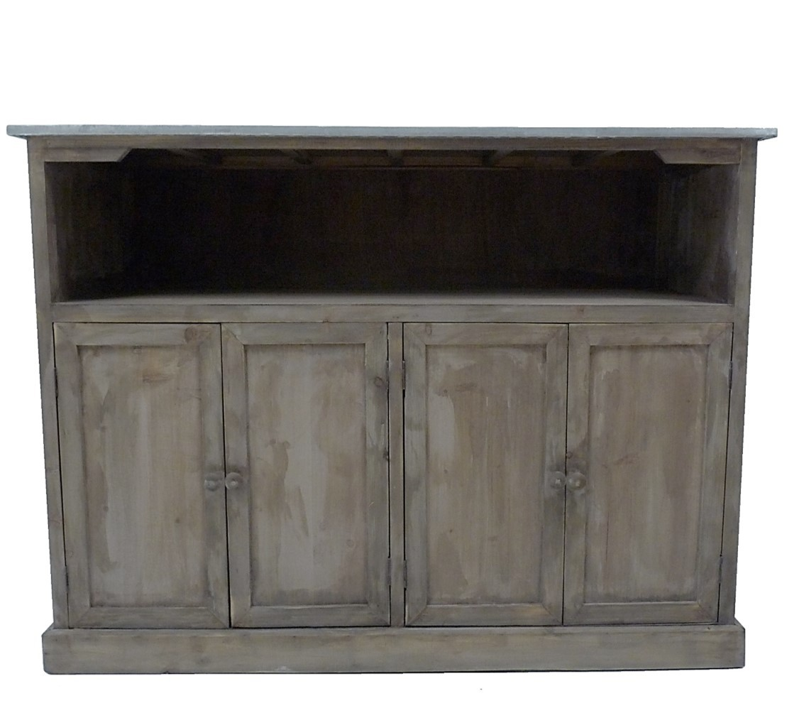 Meuble cuisine bois et zinc excellent prix cuisine krefel for Comptoir du meuble