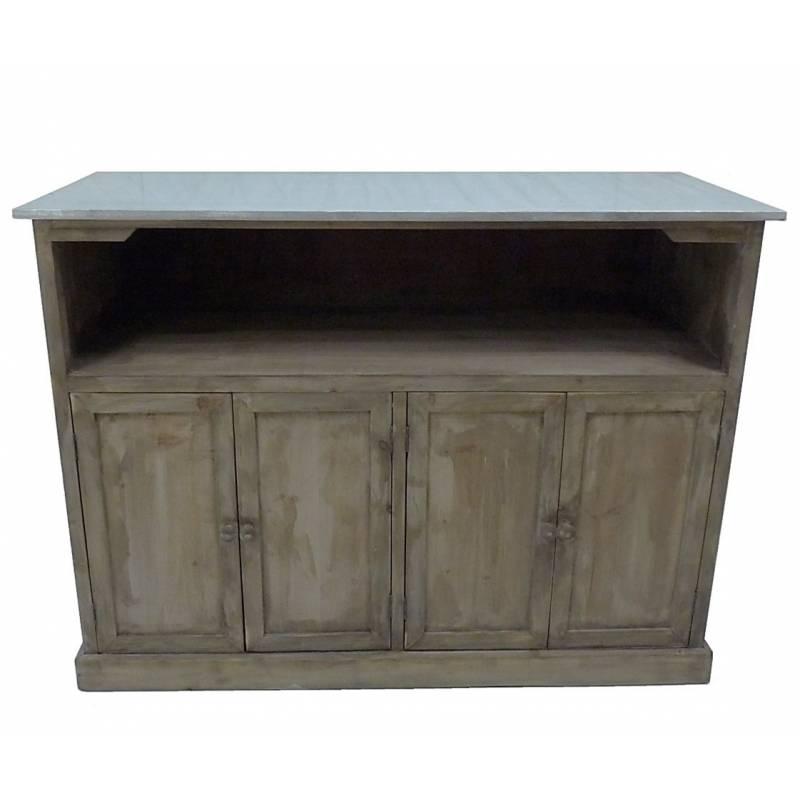 Plan de travail zinc affordable formidable salle de bains for Comptoir du meuble bruxelles