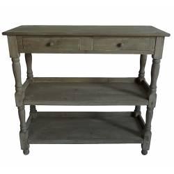 Console de Drapier Haute Table de Rangement Etagère en Bois 39x93x100cm