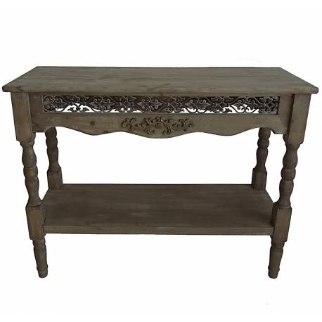 console de rangement table de drapier etag re meuble d 39 entr e en bois 40x77x100cm l 39 h ritier. Black Bedroom Furniture Sets. Home Design Ideas