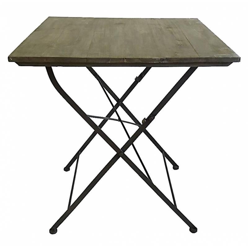 Table carr e desserte pliable console d 39 appoint int rieur for Super u table exterieur