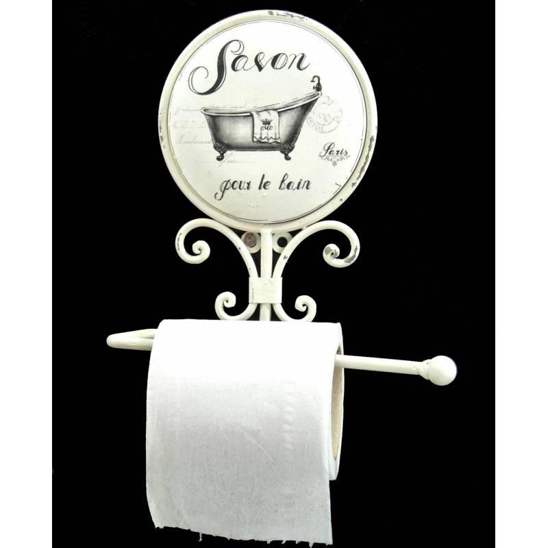 porte serviettes mural inscription savon pour le bain paris ou d roule papier toilettes en fer. Black Bedroom Furniture Sets. Home Design Ideas