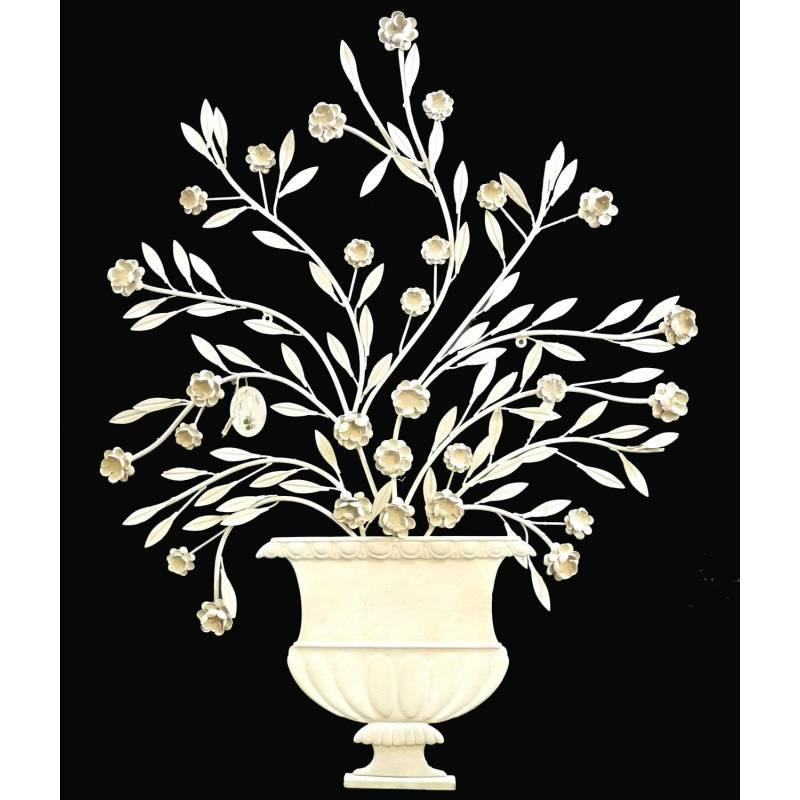 Fronton mural poser applique d corative motifs floraux for Deco mural en fer