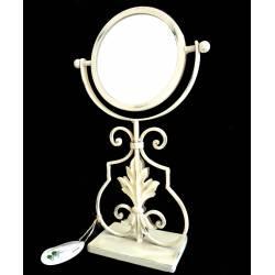 Miroir Psyché sur Pied Glace Orientable de Salle de Bain ou Chambre en Fer Blanc 13x22x37cm
